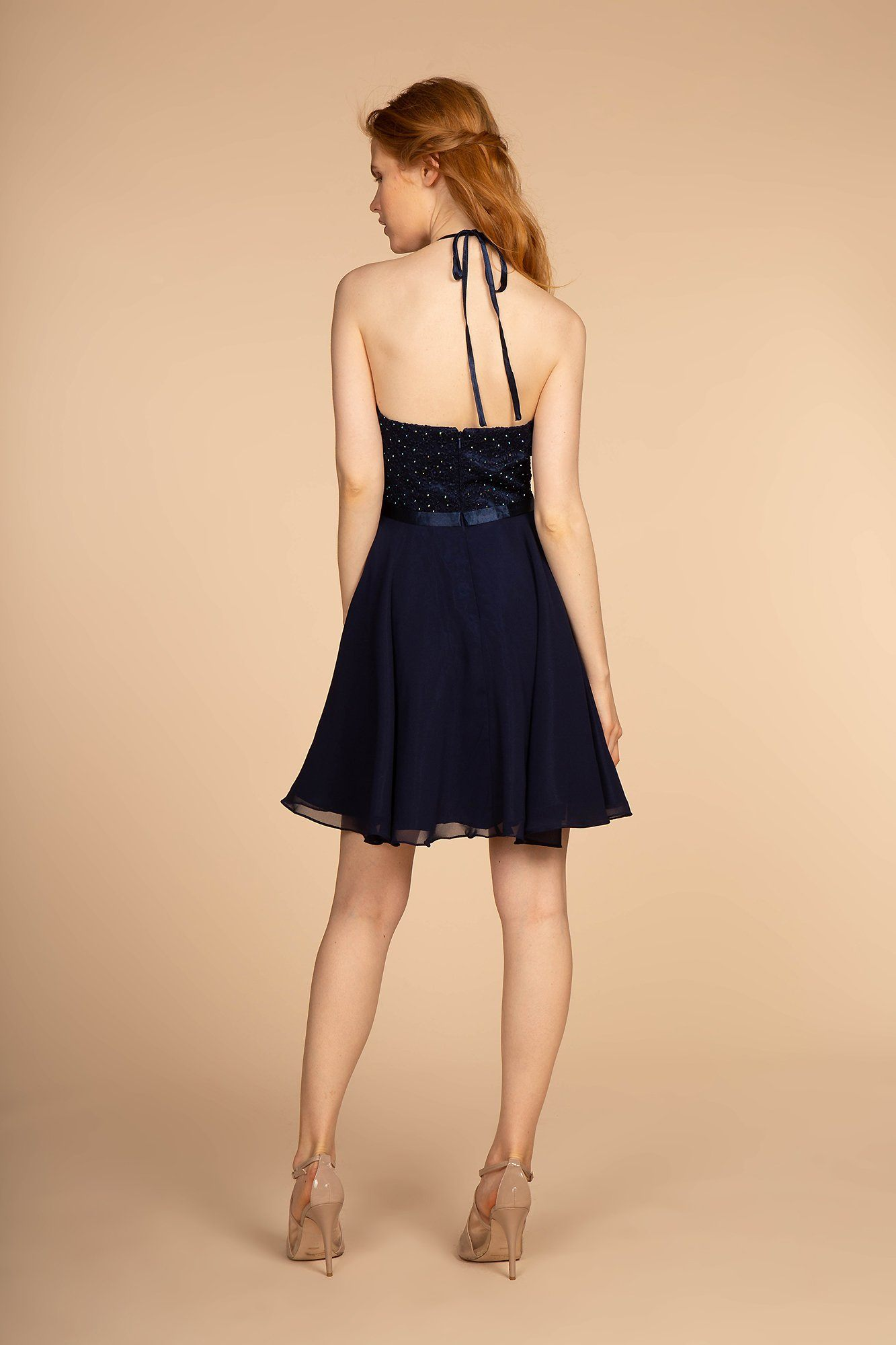 Navy blue homecoming dress GS1621-Simply Fab Dress