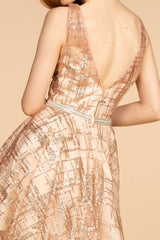 Short gold sequin dress GS1628-Simply Fab Dress