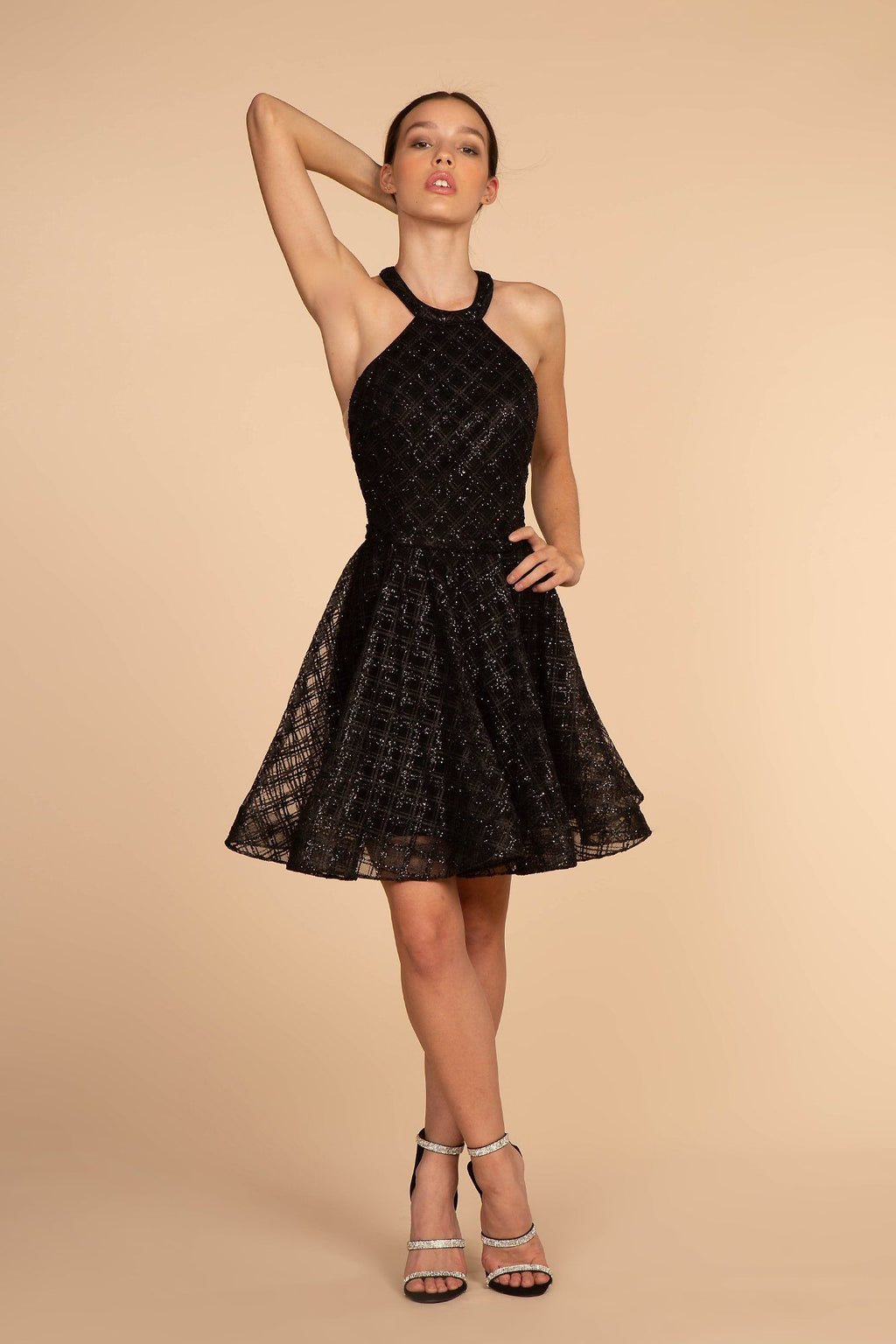 Black sequin homecoming dress GS1631-Simply Fab Dress