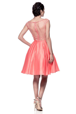 943d2354753 Cap sleeve homecoming dress with side pockets - Simply Fab Dress