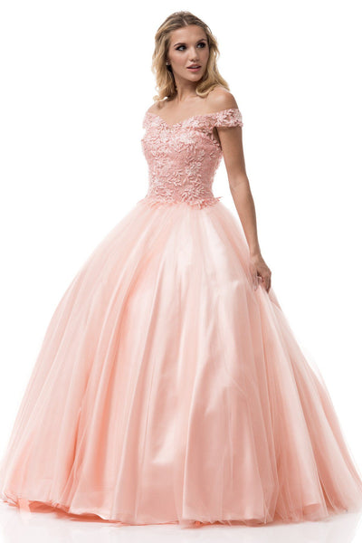 Off the shoulders Prom ball gown quinceanera dress  BC#cc61232 - Simply Fab Dress