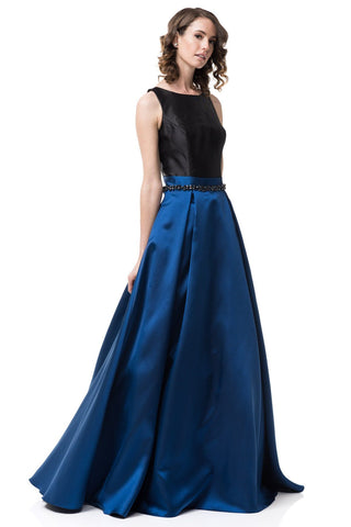 Navy ball gown dress #cc72216-Simply Fab Dress