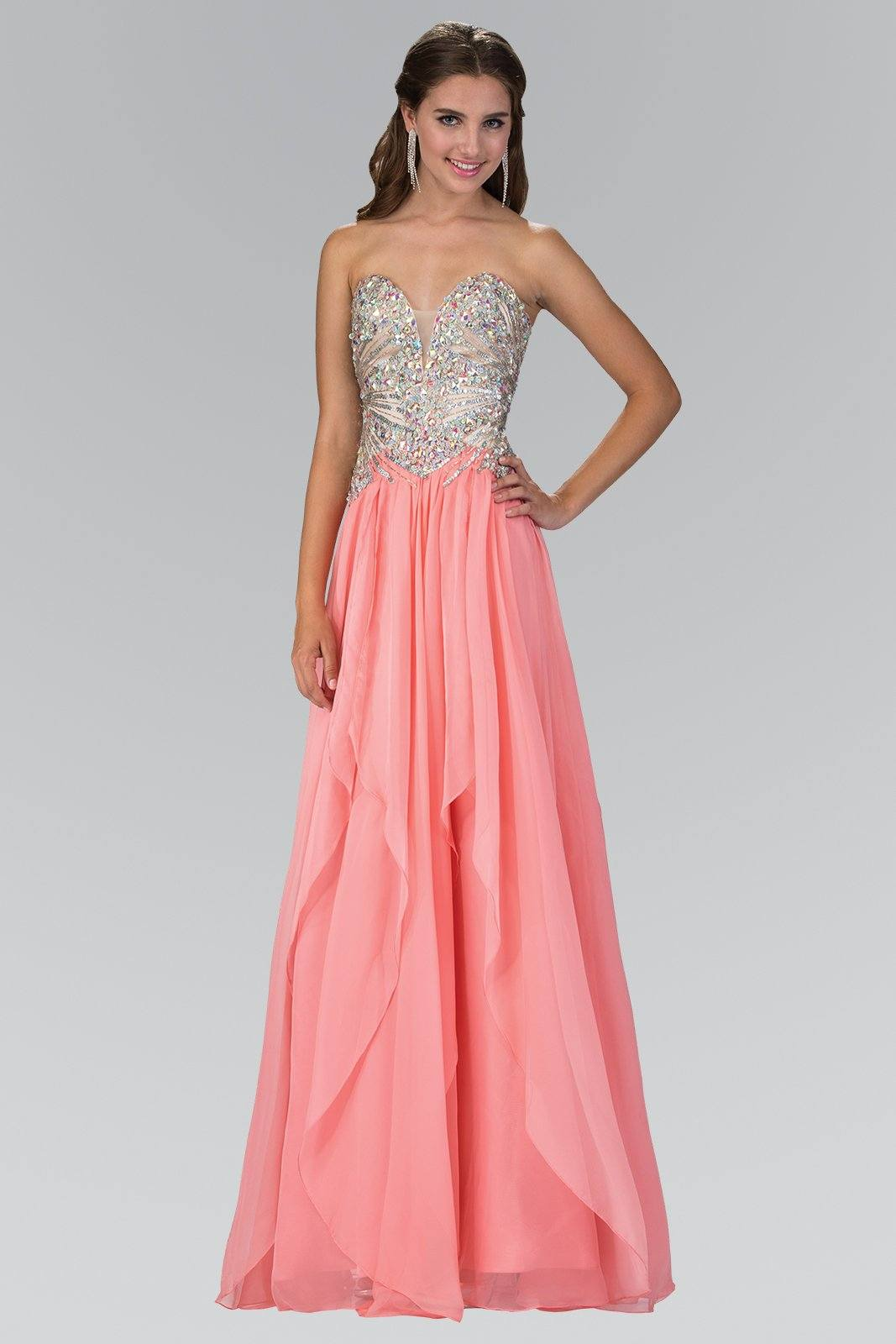 Strapless beaded prom dress gls 2092 – Simply Fab Dress