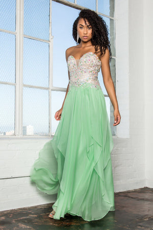 Strapless beaded prom dress gls 2092-Simply Fab Dress