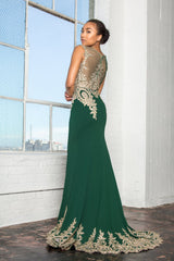 Mermaid fitted evening gown gls 2166-Simply Fab Dress