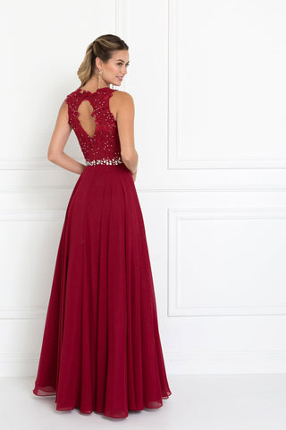 Burgundy formal dress gls 2417-Simply Fab Dress