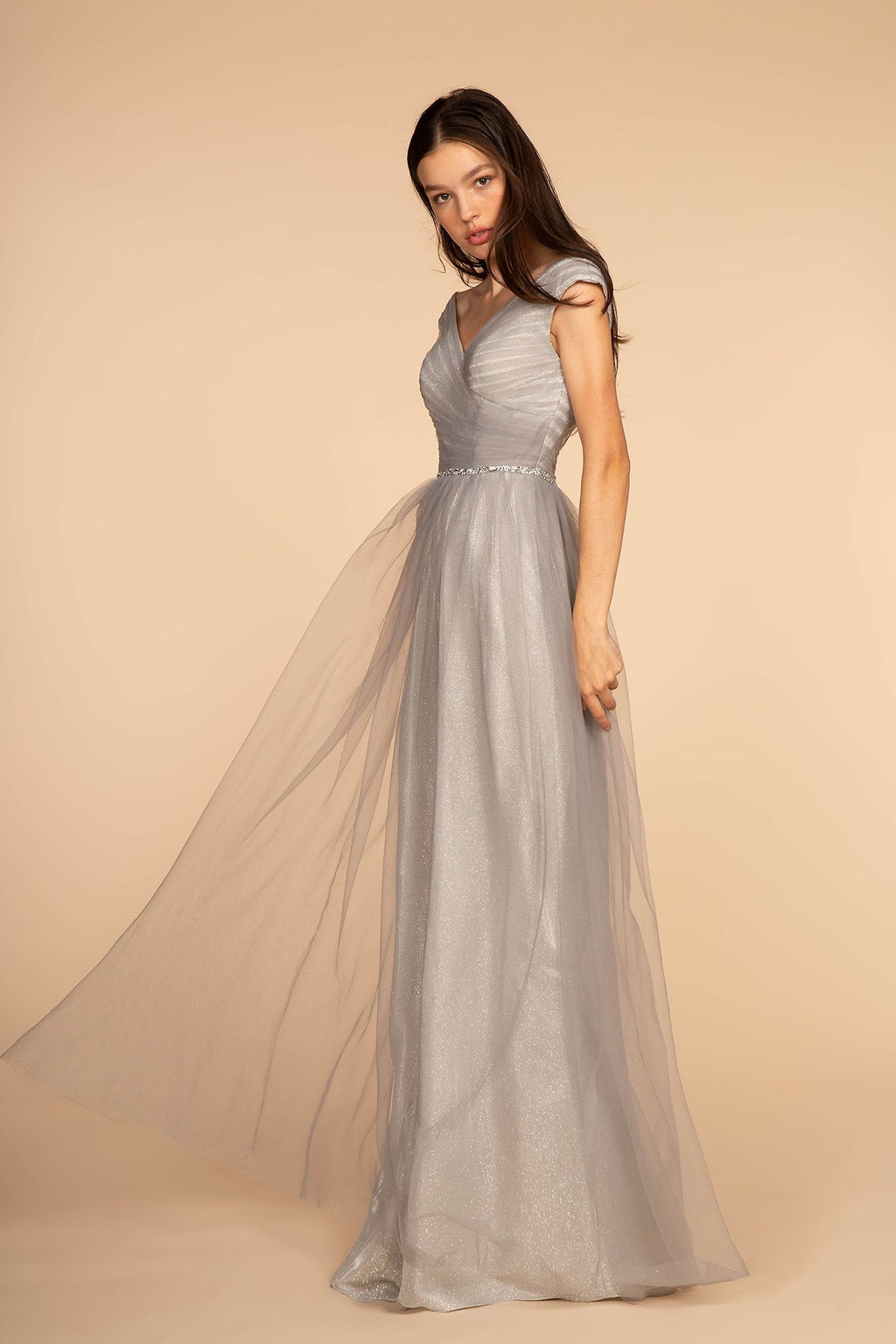 Cap sleeve ball gown dress gls 2560-Simply Fab Dress