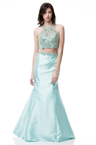 Sexy 2 piece long prom dress BC-cp6013-Simply Fab Dress