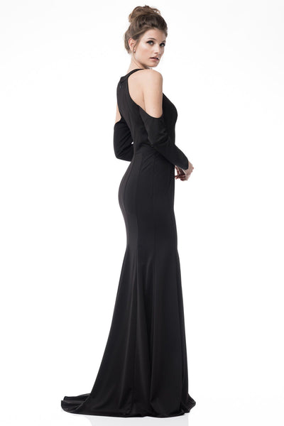 Black formal dress with sleeves BC#CP61363-Simply Fab Dress