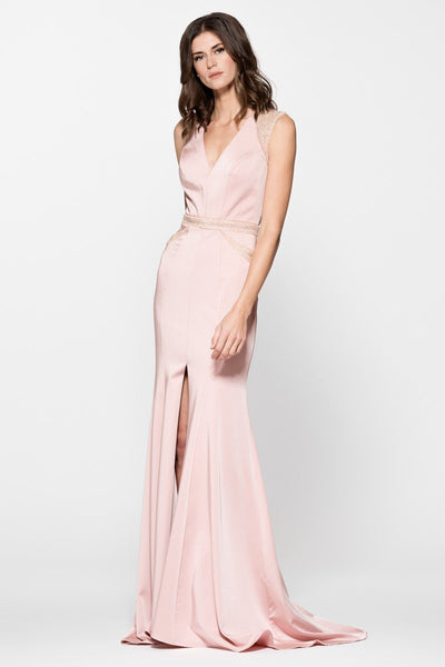Sexy gown with slit BC#cp8073-Simply Fab Dress