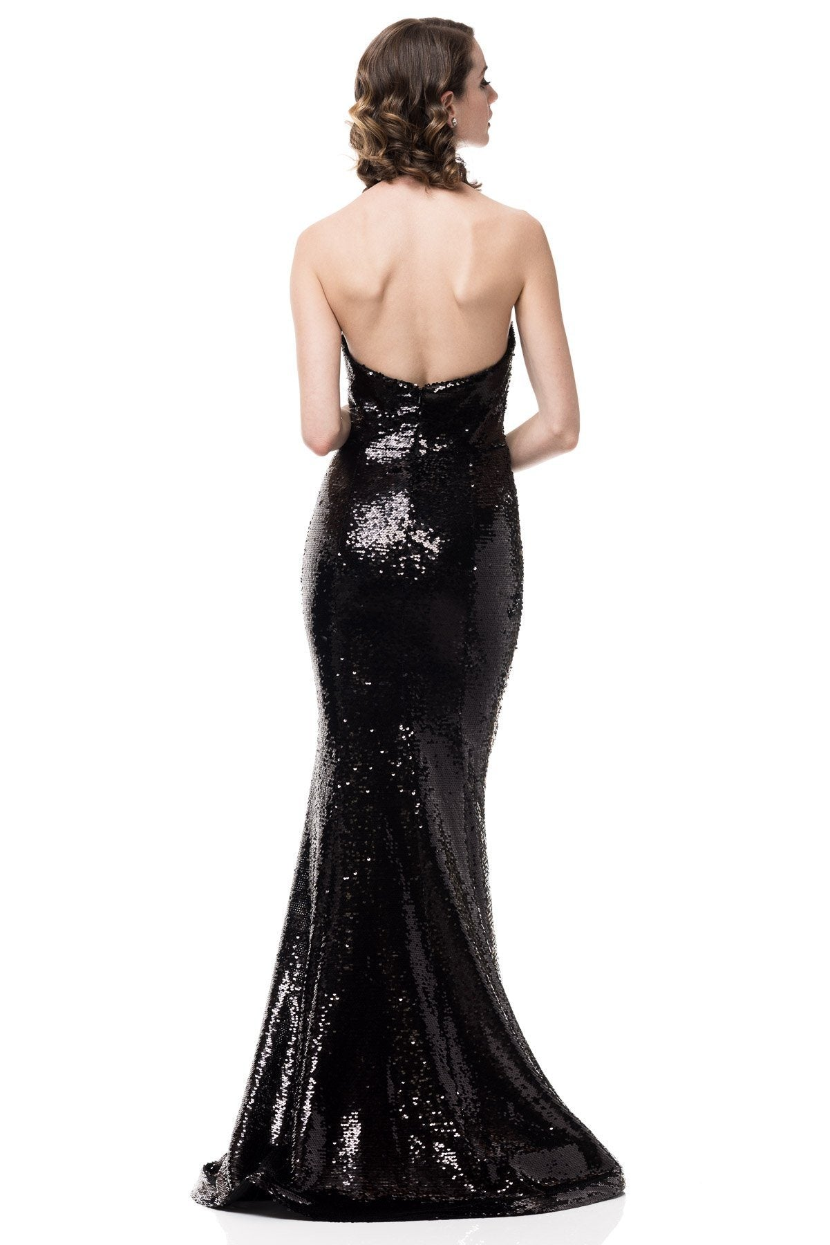Black Sequin Dress Bc#CP8465-Simply Fab Dress