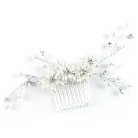 Pearl wedding hair comb #W338882 - Simply Fab Dress