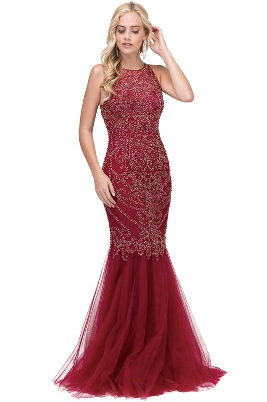 Sparkly mermaid pageant and prom dress DQ2206