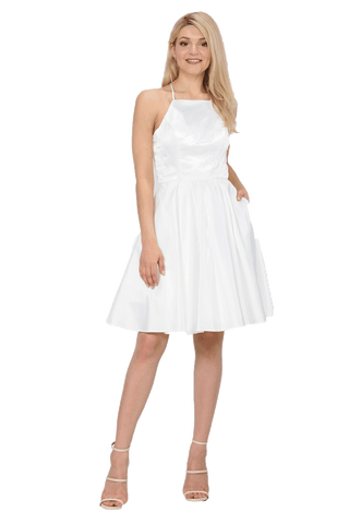 Short White Homecoming Dress po#8312-Simply Fab Dress