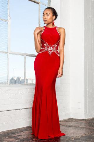 Long red formal dress gls 1357-Simply Fab Dress