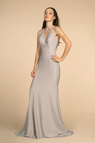 Strapless ball gown evening dress gls 2429
