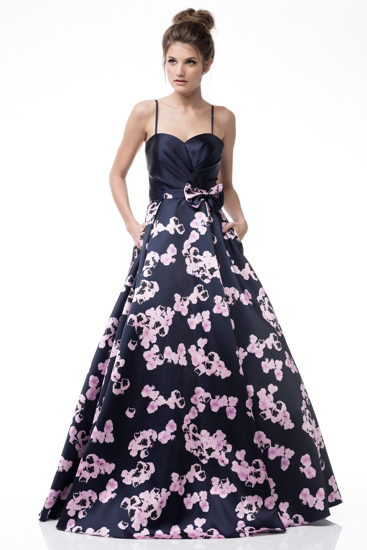 Black floral a-line ball gown homecoming dress BB EM1701 – Simply ...