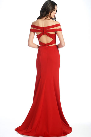 Red 2 piece homecoming dress #FA8096-Simply Fab Dress