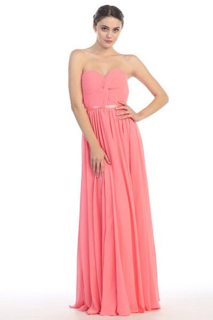 strapless sweetheart neckline inexpensive bridesmaid dress EU2611mq1145 - Simply Fab Dress