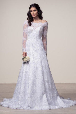 Long sleeve lace dress 106-FRW15682 Wedding Dress Affordable wedding dress  - Simply Fab Dress a8faed36e