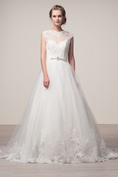 f04c34f0ff A-line ball gown Wedding Dress with lace applique FRW16243 - Simply Fab  Dress ...
