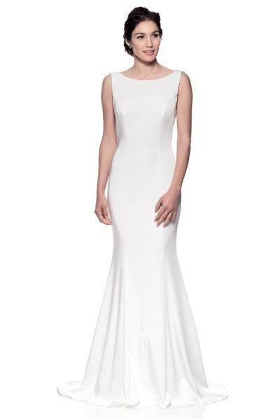 Sheath low cut back gown 106-FRW16603 Wedding Dress Affordable wedding dress - Simply Fab Dress