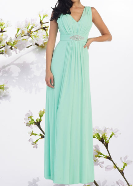 Elegant long chiffon cheap bridesmaid dress #mq1260 - Simply Fab Dress