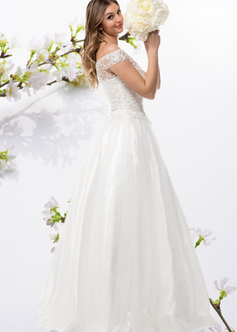 Cap sleeve off the shoulder Ball Gown wedding dress BC#CCW61232 - Simply Fab Dress