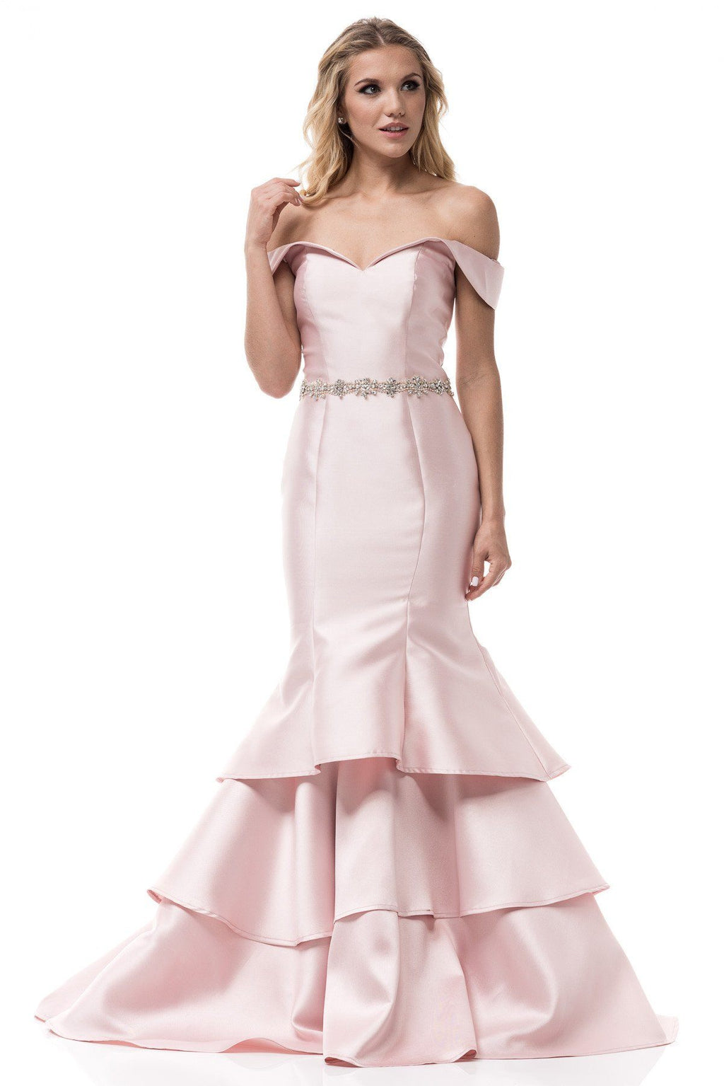 Satin mermaid bridesmaid dress BC-S#GA3224 - Simply Fab Dress