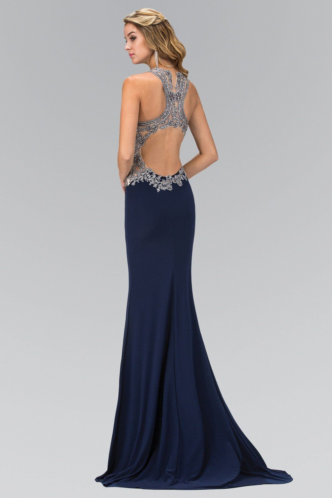 formal evening gown with cut out back 103-GL1331 – Simply Fab Dress