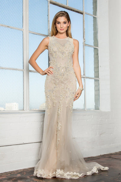 Champagne Ivory Wedding Dress 103-gl1344