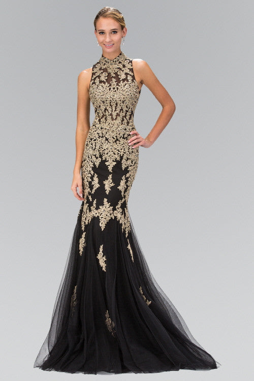 High neck lace mermaid prom dress – Simply Fab Dress