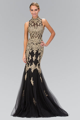 Gold mermaid prom dress  gls2428