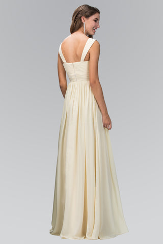 Ruched Bodice Long Chiffon Bridesmaid Dress 103-gl1386 - Simply Fab Dress