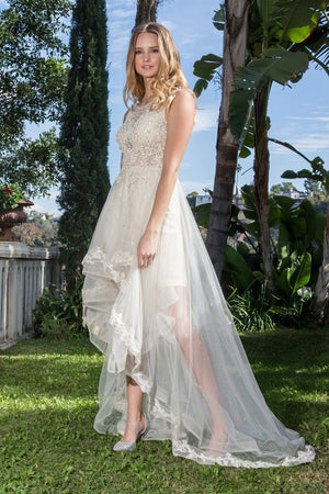 High and low wedding dress gl1426