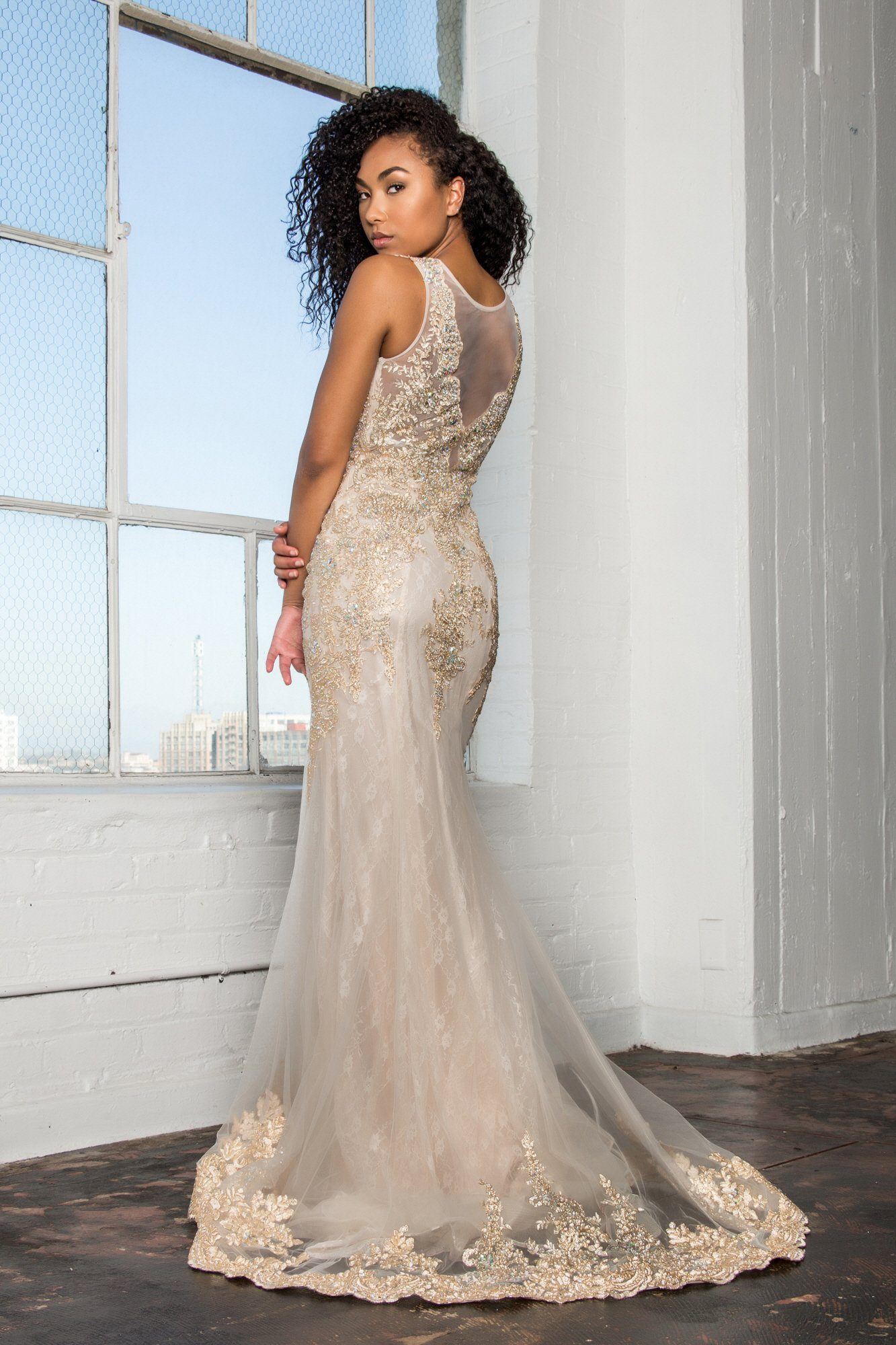 Champagne Mermaid Prom dress & Glamorous lace gown – Simply Fab Dress
