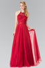 Sparkling beaded bodice long bridesmaid dress GL1475 - Simply Fab Dress