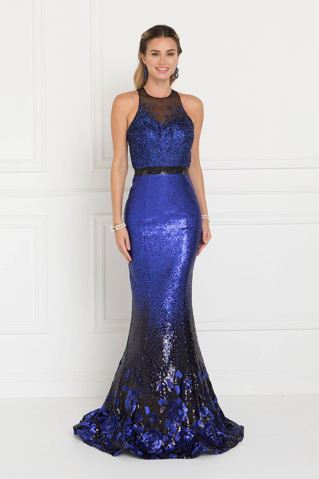 Mermaid Sequins prom dress GLS 1505-Simply Fab Dress