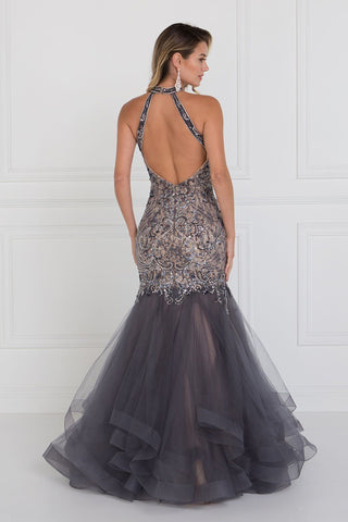 Extravagant Backless mermaid prom dress with ruffles GLS 1512S-Simply Fab Dress