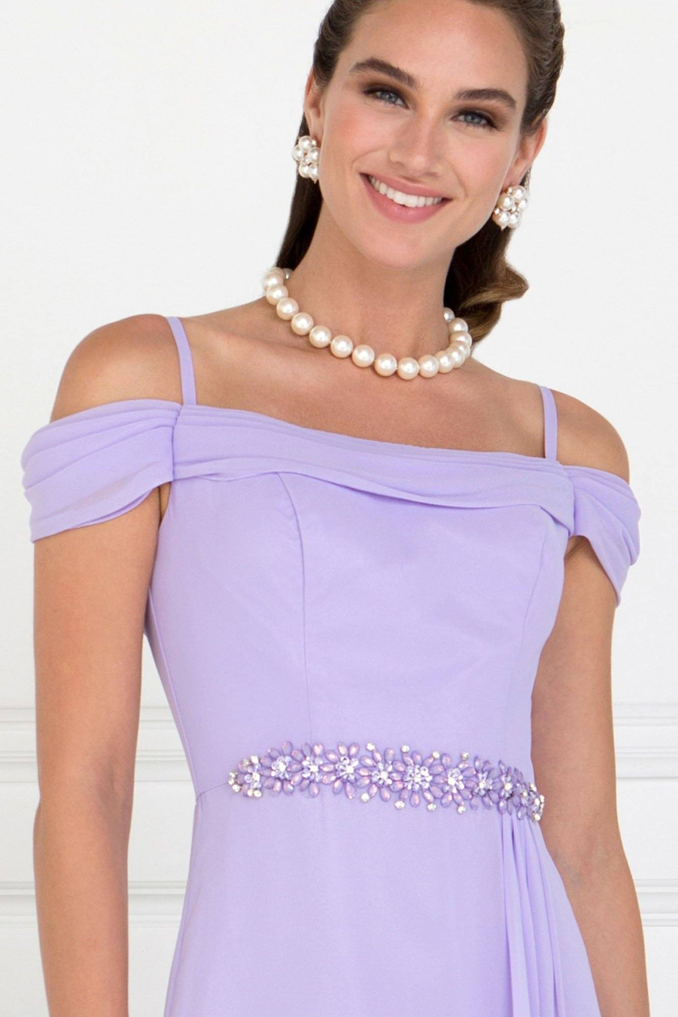Off the shoulders long bridesmaid dress – Simply Fab Dress
