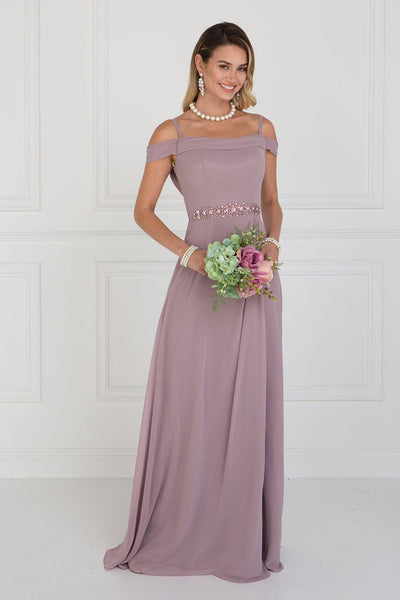 Off the shoulders long bridesmaid dress  GLS 1522