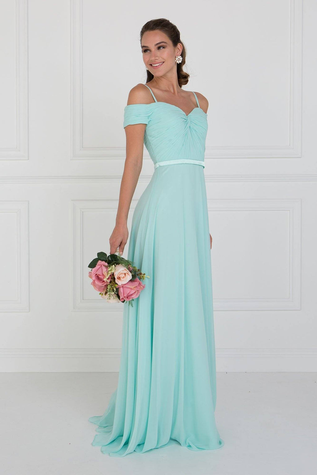 off the shoulders bridesmaid dress # GLS 1523