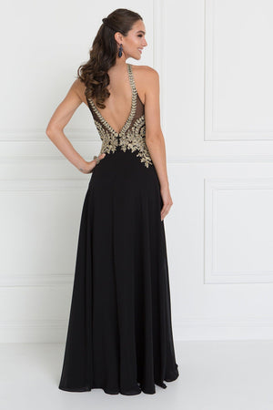 Halter top prom dress GLS 1526-Simply Fab Dress