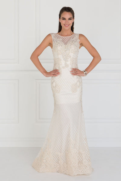 Sexy Ivory champagne wedding dress GLS 1536-Simply Fab Dress