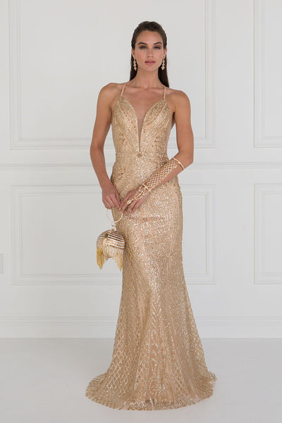 Sparkly sequins prom dress GLS 1546G-Simply Fab Dress