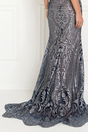 Sequins pageant evening gown & prom dress GLS 1549-Simply Fab Dress