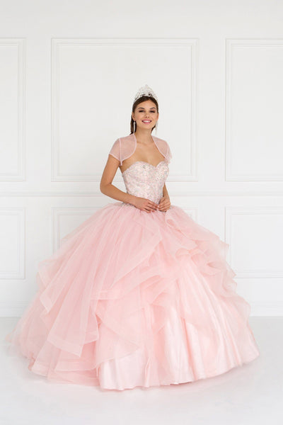 Strapless ball gown dress gls 1551-Simply Fab Dress
