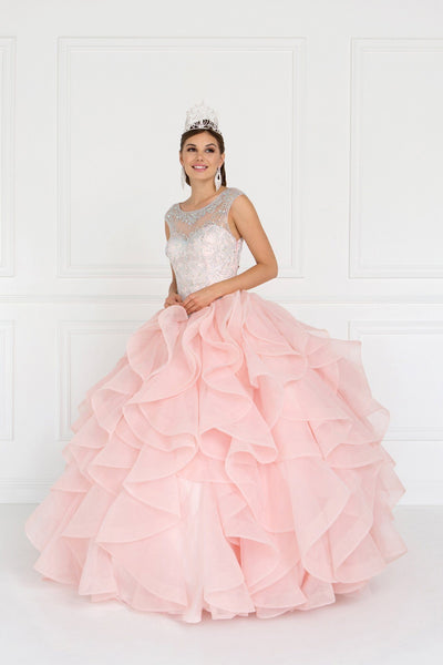 Pink quinceanera dress GLS 1555P-Simply Fab Dress