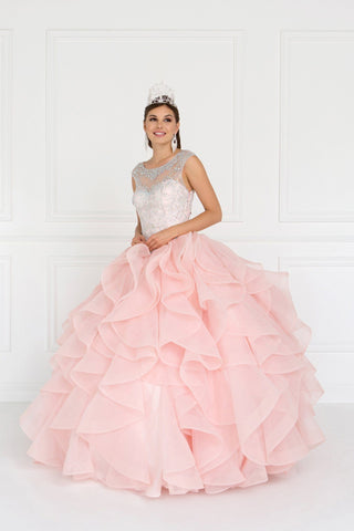 Strapless ball gown dress gls 1551