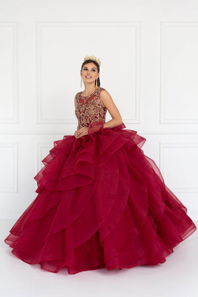Burgundy quinceanera dress GLS 1556-Simply Fab Dress